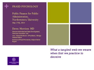 Slide from Daven Morrison's Fraud Psychology